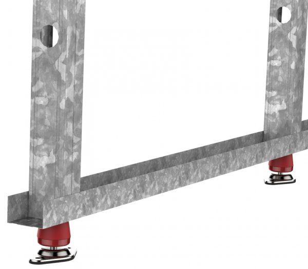 Fijaciones acústicas para suelo y techo